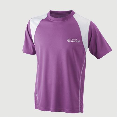 violett / weiß